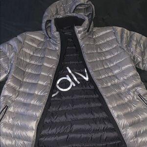 Calvin Klein Grey Puffer Jacket